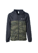 SolJah Black/Camo Lightweight Windbreaker
