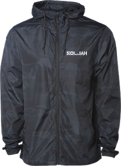SolJah Black Camo Lightweight WindBreaker
